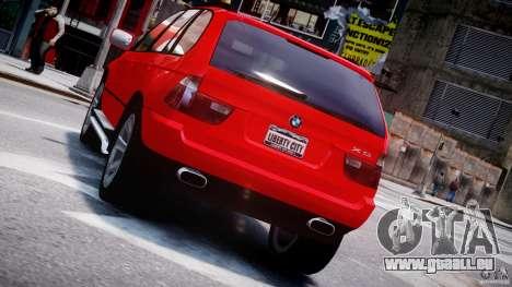 BMW X5 E53 v1.3 pour GTA 4 roues