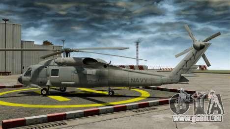 L'hélicoptère le Sikorsky SH-60 Seahawk pour GTA 4 est une gauche