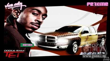 2 Fast 2 Furious Menu Ludacris GTA Vice City pour la deuxième capture d'écran