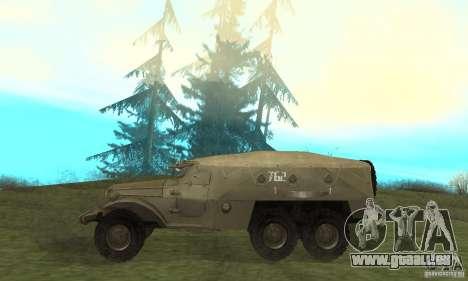 BTR-152 pour GTA San Andreas sur la vue arrière gauche