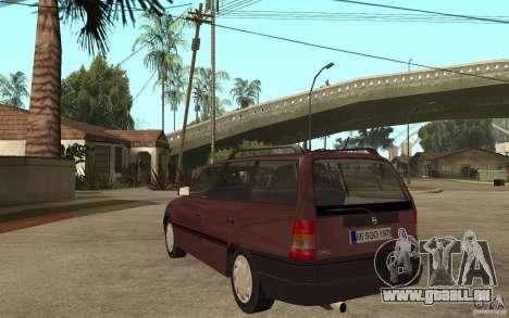 Opel Astra SW 1.6 1994 pour GTA San Andreas sur la vue arrière gauche