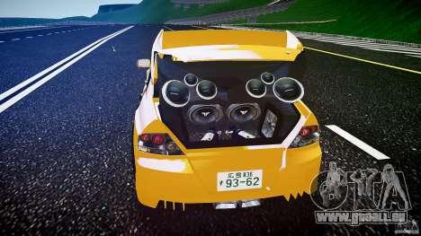 Mitsubishi Lancer Evolution pour GTA 4 est une vue de dessous