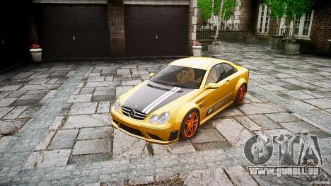 Mercedes Benz CLK63 AMG Black Series 2007 pour GTA 4