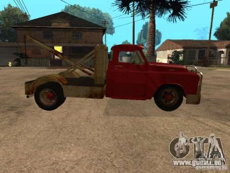 Camion Dodge est rouillée pour GTA San Andreas vue intérieure