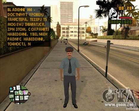 Russische Polizei Haut für GTA San Andreas dritten Screenshot
