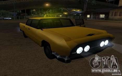 Oceanic Cab pour GTA San Andreas vue de droite