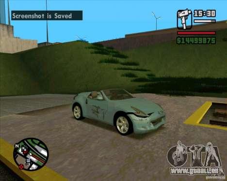 Nissan 370Z Roadster pour GTA San Andreas vue de droite
