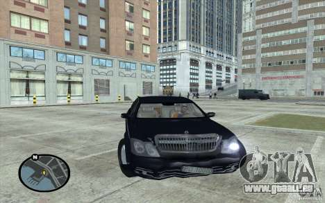 Maybach 62 für GTA San Andreas rechten Ansicht