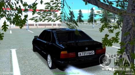 BMW E34 V1.0 pour GTA San Andreas laissé vue