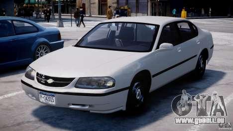 Chevrolet Impala Unmarked Police 2003 v1.0 [ELS] für GTA 4 Rückansicht