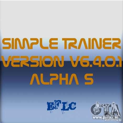 Simple Trainer Version v6.4.0.1 alpha 5 für GTA 4