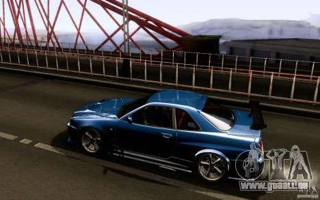 Nissan Skyline GT-R34 pour GTA San Andreas vue de droite