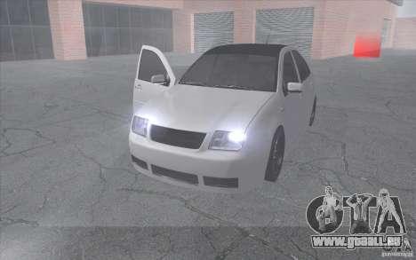 Volkswagen Bora für GTA San Andreas Rückansicht