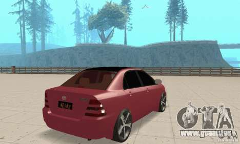 Toyota Corolla Tuning pour GTA San Andreas laissé vue