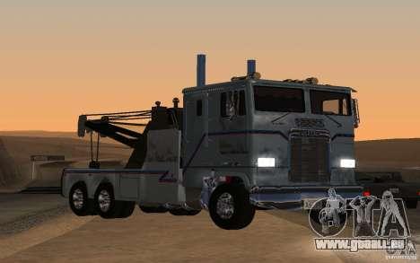 Kenworth K100 Towtruck pour GTA San Andreas sur la vue arrière gauche