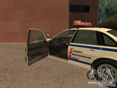 Die Polizei von GTA4 für GTA San Andreas Rückansicht
