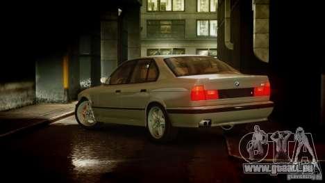 BMW M5 (E34) 1995 v1.0 pour GTA 4 Vue arrière de la gauche