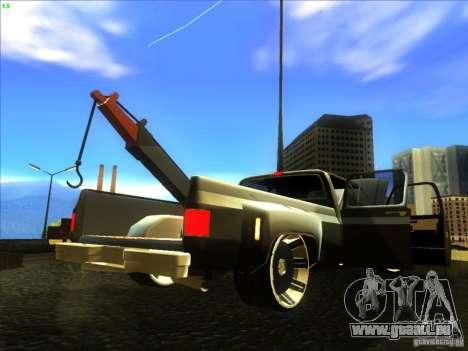 Chevrolet Silverado Towtruck für GTA San Andreas Rückansicht
