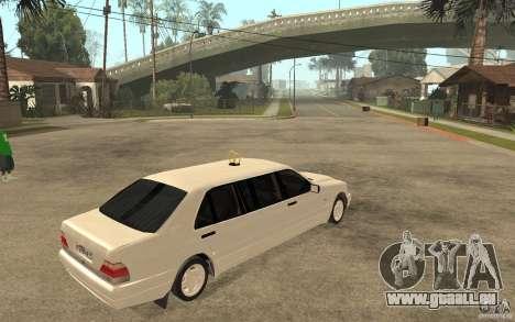 Mercedes-Benz S600 W140 1998 Pullman für GTA San Andreas rechten Ansicht