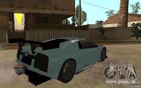 Lamborghini Murcielago R-GT pour GTA San Andreas sur la vue arrière gauche