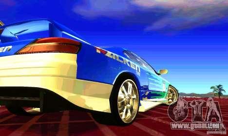 Nissan Silvia S15 8998 Edition Tunable pour GTA San Andreas vue de côté