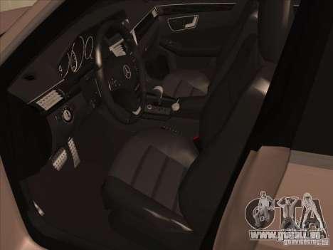 Mercedes-Benz E63 AMG Black Series Tune 2011 pour GTA San Andreas vue arrière