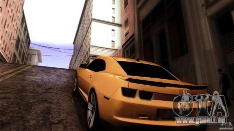 Chevrolet Camaro ZL1 2011 v1.0 pour GTA San Andreas sur la vue arrière gauche