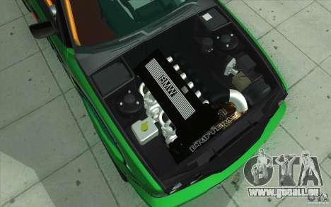 BMW E34 V8 Wide Body pour GTA San Andreas vue de dessous