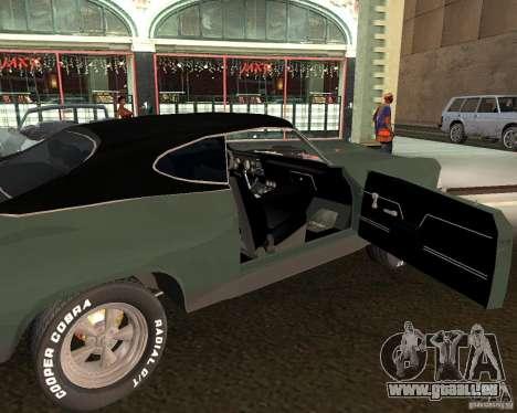 Chevrolet Chevelle 1968 für GTA San Andreas rechten Ansicht
