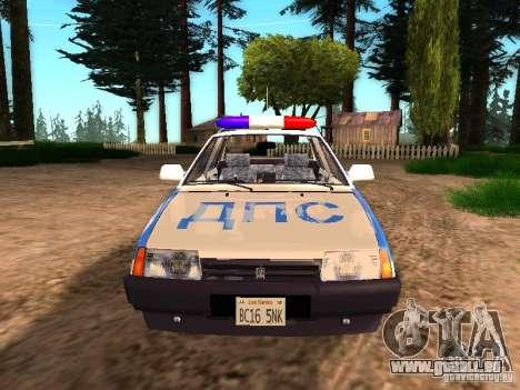 VAZ 2109 Police pour GTA San Andreas vue de droite