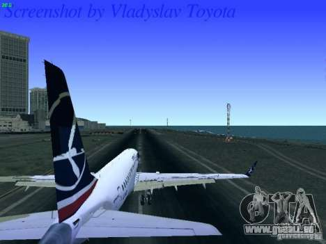 Embraer ERJ 190 LOT Polish Airlines für GTA San Andreas Rückansicht