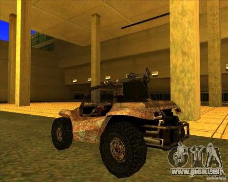 Desert Bandit pour GTA San Andreas sur la vue arrière gauche