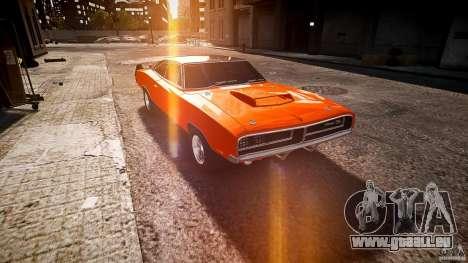 Dodge Charger RT 1969 sport de tun v1.1 pour GTA 4 Vue arrière