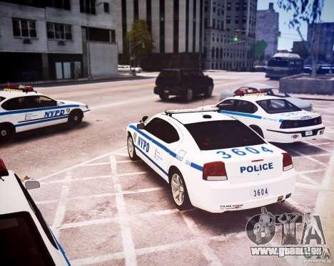 Dodge Charger 2010 NYPD ELS für GTA 4 hinten links Ansicht