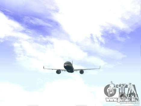 Boeing 757-200 United Airlines für GTA San Andreas rechten Ansicht