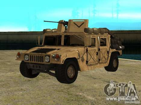 Hummer H1 HMMWV with mounted Cal.50 für GTA San Andreas