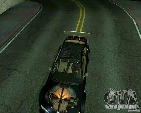 BMW M3 GTR Final pour GTA San Andreas sur la vue arrière gauche