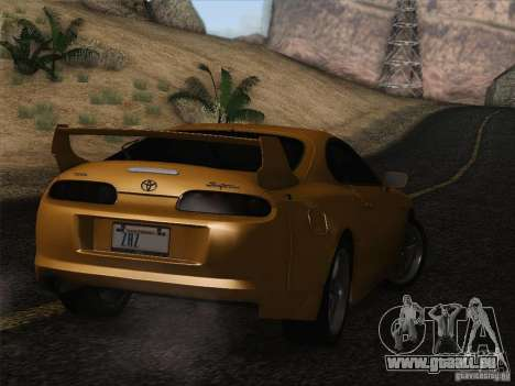 Toyota Supra TRD3000GT v2 für GTA San Andreas Unteransicht
