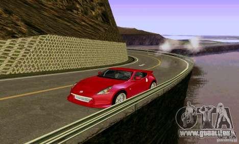 Nissan 370Z pour GTA San Andreas vue de dessus