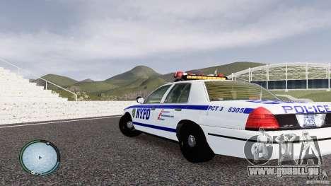 Ford Crown Victoria 2003 NYPD für GTA 4 hinten links Ansicht