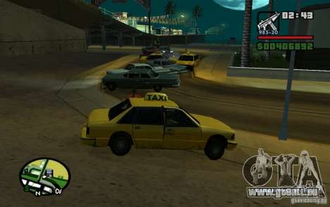 Amstrad bei einem Unfall für GTA San Andreas