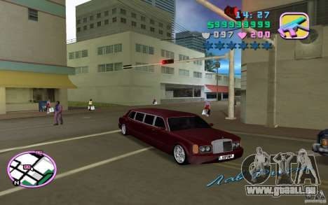 Rolls Royce Silver Seraph pour une vue GTA Vice City de la gauche