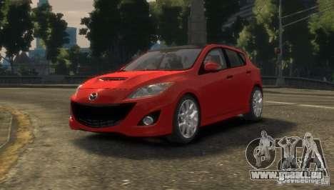 Mazda Speed 3 2010 pour GTA 4 Vue arrière de la gauche