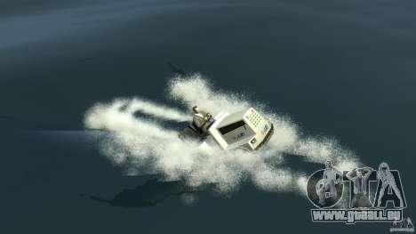 Airtug boat für GTA 4 hinten links Ansicht