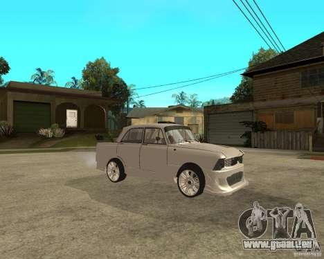 AZLK 412 à l'écoute pour GTA San Andreas vue de droite