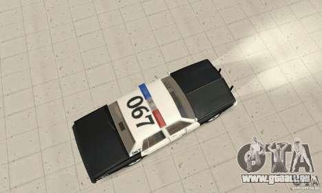 Chevrolet Caprice Interceptor 1986 Police pour GTA San Andreas vue de droite
