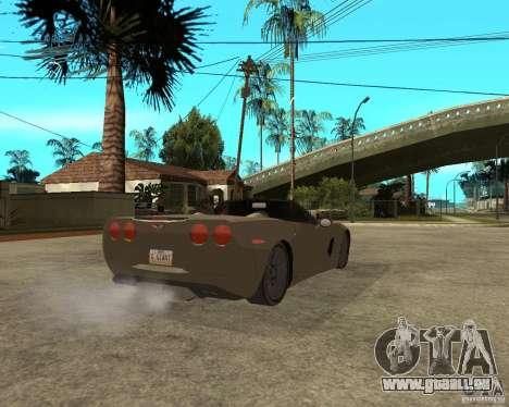 2005 Chevy Corvette C6 für GTA San Andreas zurück linke Ansicht