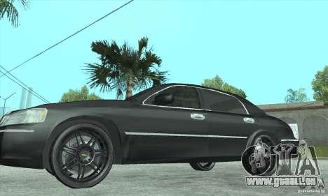 Lincoln Town Car 2002 pour GTA San Andreas vue de droite