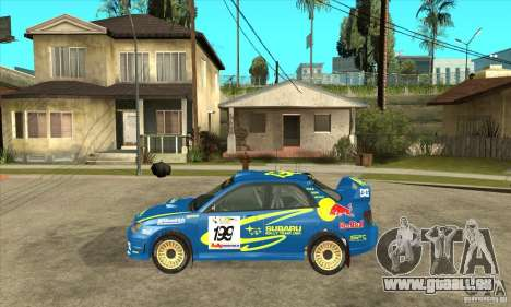 Subaru Impreza STi WRC wht2 pour GTA San Andreas vue de droite