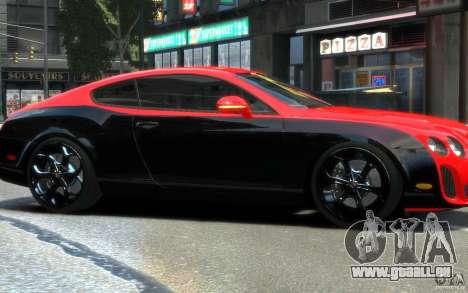 Bentley Continental SS MansorY pour GTA 4 est une vue de l'intérieur